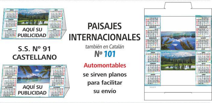 Calendario Sobremesa 2021 PAISAJES INTERNACIONALES