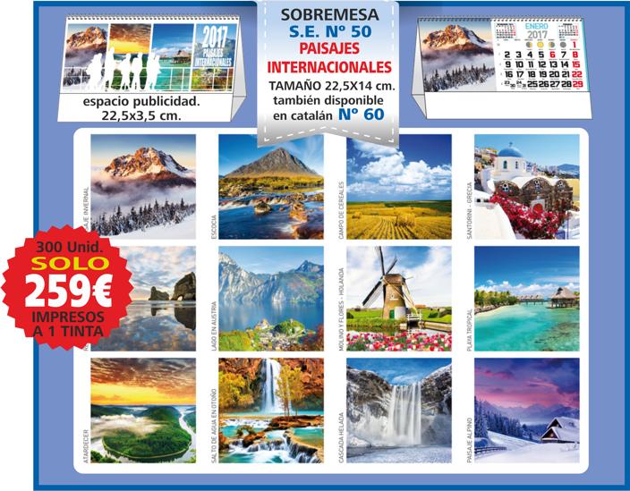 oferta sobremesa paisajes internacionales