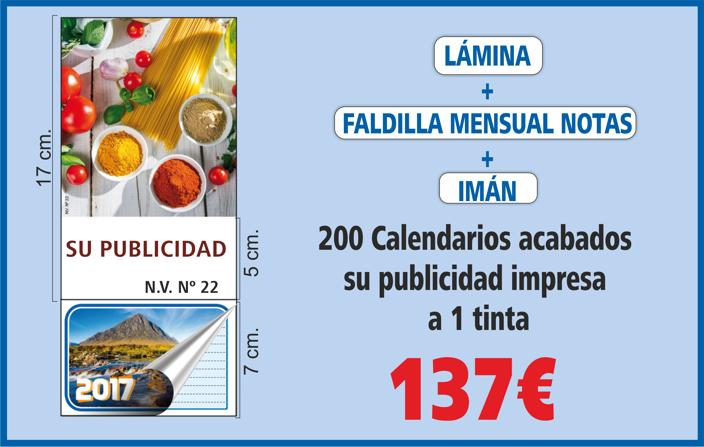 Calendario Nevera con imán