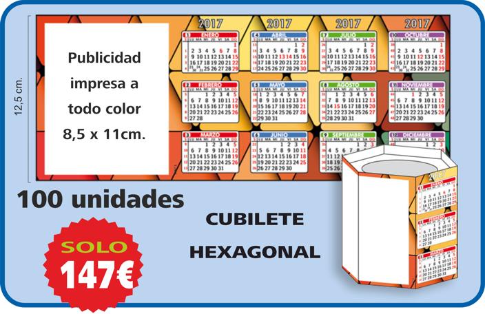 oferta cubilete hexagonal