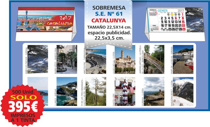 oferta calendario sobremesa vistas catalunya